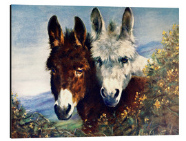 Tableau en aluminium  The Wise Ones (Donkeys) - Lilian Cheviot