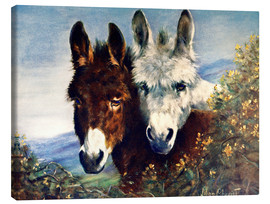 Toile  The Wise Ones (Donkeys) - Lilian Cheviot
