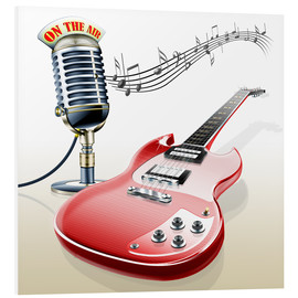 Forex  Electric guitar with microphone and music notes - Kalle60