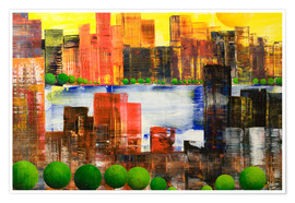 Poster Skyline City, abstract