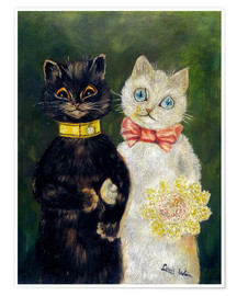Poster Mariage de chats