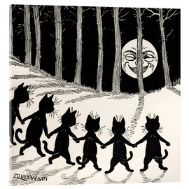 Verre acrylique  Cats at full moon - Louis Wain