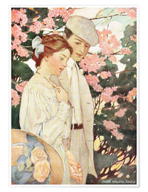 Poster  Amoureux - Jessie Willcox Smith