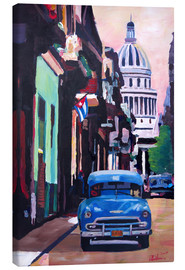 Tableau sur toile  Cuban Oldtimer Street Scene in Havanna Cuba with Buena Vista Feeling - M. Bleichner
