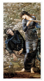 Poster  L'enchantement de Merlin - Edward Burne-Jones