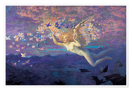 Poster  Wings of the Morning - Edward Robert Hughes