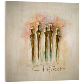 Tableau en bois  Together - Tina Melz