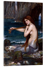 Verre acrylique  La sirène - John William Waterhouse