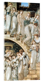 Tableau en verre acrylique  L'Escalier d'Or - Edward Burne-Jones