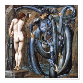 Poster  Perseus met the fate - Edward Burne-Jones