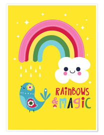 Poster  Rainbows and magic - Kat Kalindi Cameron