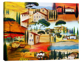 Tableau sur toile  Collage toscan - Christine Huwer