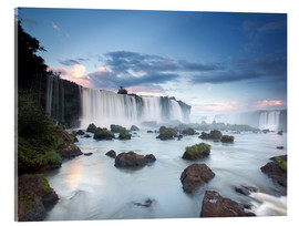 Verre acrylique  Dramatic sunset over Iguacu waterfalls - Alex Saberi
