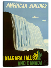 Tableau sur toile  American Airlines Niagara Falls and Canada - Travel Collection