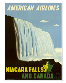 Poster  American Airlines Niagara Falls and Canada - Travel Collection