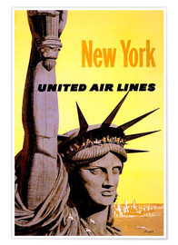 Poster  New York United Air Lines