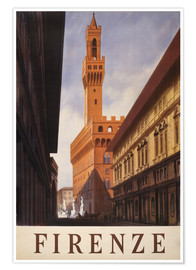 Poster Florence (italien)