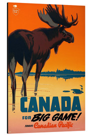 Tableau en aluminium  Canada for big game - Travel Collection
