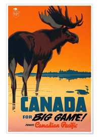 Poster  Canada for big game - Travel Collection
