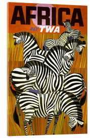 Tableau en verre acrylique  Africa Fly TWA - Travel Collection