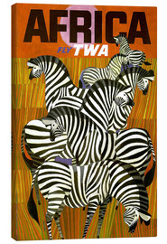 Tableau sur toile  Africa Fly TWA - Travel Collection