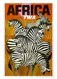 Poster  Africa Fly TWA - Travel Collection