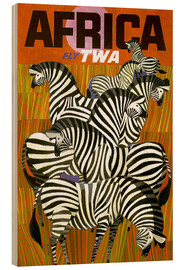 Tableau en bois  Africa Fly TWA - Travel Collection