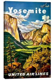 Tableau sur toile  Yosemite United Air Lines - Travel Collection