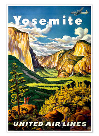 Poster  Yosemite United Air Lines