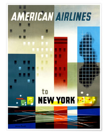 Poster  American Airlines to New York - Travel Collection