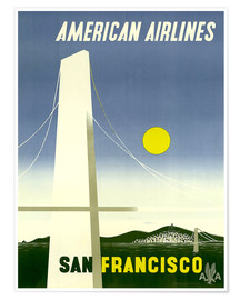Poster  American Airlines San Francisco