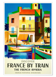 Poster  France by Train - Travel Collection