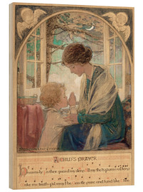 Tableau en bois  A Child's Prayer - Jessie Willcox Smith