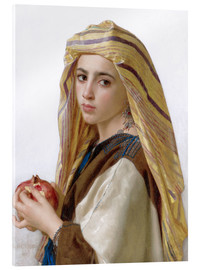 Verre acrylique  Girl with a pomegranate - William Adolphe Bouguereau