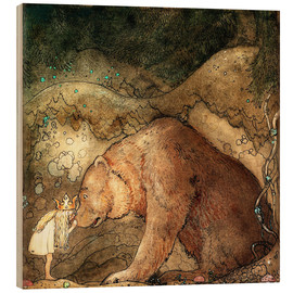 Bois  she kissed the bear on the nose - John Bauer