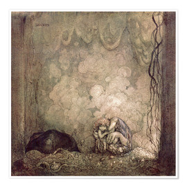 Poster  L'amour maternel - John Bauer