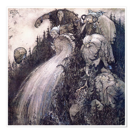 Poster  Troll of the forest - John Bauer