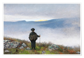 Poster  Far, far away Soria Moria Palace shimmered like Gold - Theodor Kittelsen