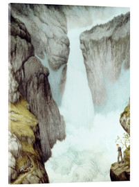 Verre acrylique  At the waterfall - Theodor Kittelsen