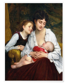 Poster  Motherly Love - Leon Bazile Perrault