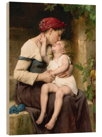 Tableau en bois  Mother and Child - Leon Bazile Perrault