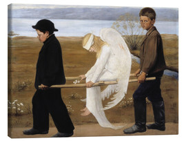 Toile  The Wounded Angel - Hugo Simbert