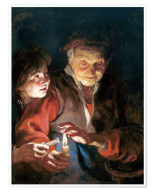 Poster  Night Scene - Peter Paul Rubens