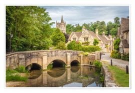 Poster  The village of Castle Combe, Wiltshire (England) - Christian Müringer