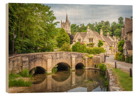 Tableau en bois  The village of Castle Combe, Wiltshire (England) - Christian Müringer