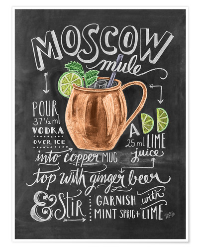 Poster Recette du Moscow mule (anglais)