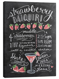 Toile  Recette du Strawberry Daiquiri (anglais) - Lily & Val
