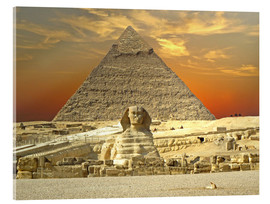 Verre acrylique  Sphinx from Gizeh - Tina Melz