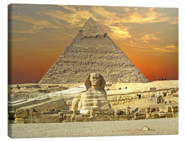 Tableau sur toile  Sphinx from Gizeh - Tina Melz