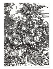 Poster  The Four Horsemen - Albrecht Dürer